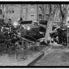 *NEW* Antique Old Wreck Photo[8x10] Fire Engine Wreck, 1921, Unknown Location