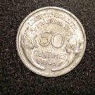 "1945 FRANCE/FRENCH COIN: 50 CENTIMES ""LIBERTE-EGALITE-FRATERNITE"""