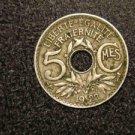 "1922 FRANCE/FRENCH COIN: 5 CENTIMES CMES ""LIBERTE-EGALITE-FRATERNITE"""