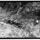 *NEW* Antique Old Wreck Photo[8x10] Auto Accident, Forest, Vintage, River