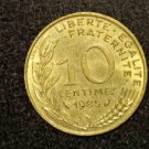"1985 FRANCE/FRENCH COIN: 10 CENTIMES ""LIBERTE-EGALITE-FRATERNITE"""