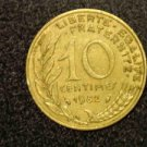"1982 FRANCE/FRENCH COIN: 10 CENTIMES ""LIBERTE-EGALITE-FRATERNITE"""