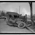 *NEW* Antique Old Wreck Photo[8x10]Unknown Car Accident,tree, wheels fell off