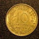 "1970 ANTIQUE FRANCE/FRENCH COIN: 10 CENTIMES ""LIBERTE-EGALITE-FRATERNITE"""