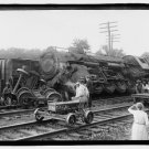 *NEW* Antique Old Wreck Photo[8x10] Unknown Locomotive, Engine Crash, Accident