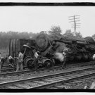 *NEW* Antique Old Wreck Photo[8x10] Man smoking near Railroad accident, tracks