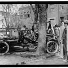 *NEW* Antique Crash,Wreck[8x10] Tree, Automobile Accident, Bystanders, Wheels