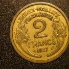 1937 FRANCE/FRENCH COIN: 2 FRANCS VINTAGE