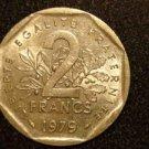 1979 FRANCE/FRENCH COIN: 2 FRANCS VINTAGE