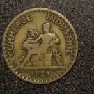 1923 FRANCE/FRENCH COIN: 1 FRANC VINTAGE