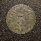 1917 ANTIQUE STADT-BURGUA UNKNOWN COIN---CROWN WITH CASTLE/TOWER?