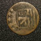 1780 DUTCH COLONIAL? AMERICAN? UNSURE OLD ANTIQUE COIN WITH LION/ANIMAL VOC