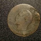 WORN FRANCE/FRENCH COIN FROM THE 1800S. NAPOLEON II?