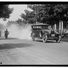 *NEW* Antique,Vintage Motorcycle Photo[8x10] Old Car, Trailing Smoke, Police