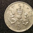 1978 BRITISH UK ENGLAND GREAT BRITAIN  FIVE PENCE-- ELIZABETH 2 COIN