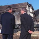 New 8.5x11 Photo:September 11th Remembrance: 9/11: President Bush at Pentagon