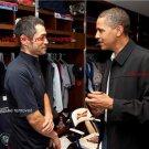 New 8.5x11 Photo:President Barack Obama with Ichiro Suzuki in Locker Room