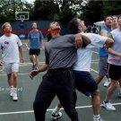 New 8.5x11 Photo:President Barack Obama: Playing Basketball with Cabinet Staff