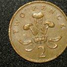 1985  BRITISH UK ENGLAND TWO PENCE COOL DESIGN: Antique/Vintage OLD Coin