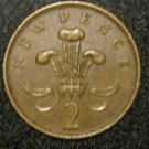 1979 BRITISH UK ENGLAND TWO PENCE COOL DESIGN: Antique/Vintage OLD Coin