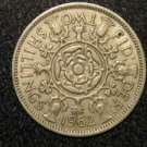 1962 BRITISH UK ENGLAND TWO SHILLINGS CROWN DESIGN: Antique/Vintage OLD Coin
