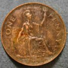 1945 BRITISH UK ENGLAND LARGE COPPER PENNY CENT: Antique/Vintage Coin