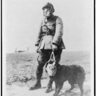 *NEW* FRENCH SERGEANT WW1 GAS MASK ON DOG= (8x10) ANTIQUE DOG PHOTOGRAPH