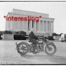STUDIO QUALITY ANTIQUE MOTORCYCLE PHOTO:(8x10):SALLY HALTERMAN 1ST DC WOMAN MOTO