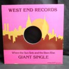 Vintage Record LP Case: No Record : Great for Framing! --West End Records-Single