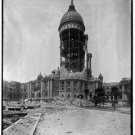 New Antique Photo:BW:8.5x11:San Francisco:Tower of City Hall--c1906 Earthquake