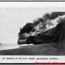 New Antique Photo:BW:8.5x11:San Francisco:Burning of the Cliff House
