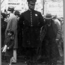 New Antique Photo:BW:8.5x11:San Francisco: Street Meeting Policeman: c1936