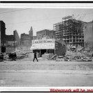 New Antique Photo:BW:8.5x11:San Francisco:New Business on Phelan Bldg Earthquake