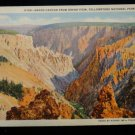 ANTIQUE ORIGINAL POSTCARD:LINEN, YELLOWSTONE NATIONAL PARK, GRAND CANYON