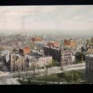 ANTIQUE ORIGINAL POSTCARD: AERIAL, BIRDS EYE VIEW, COLUMBUS, OHIO, COLOR
