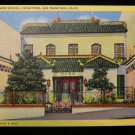 ANTIQUE ORIGINAL POSTCARD: LINEN, CHINESE SCHOOL, CHINATOWN SAN FRANCISCO