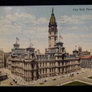 ANTIQUE ORIGINAL POSTCARD: CITY HALL, PHILADELPHIA, PA 1917, CANTON, MISSOURI