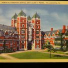 ANTIQUE ORIGINAL POSTCARD: MEMORIAL TOWER AND STATUE, UNIVERSITY OF PENNSYLVANIA
