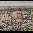 ANTIQUE ORIGINAL POSTCARD: AERIAL VIEW OF MINERAL WELLS, TEXAS, LINEN, COOL PIC