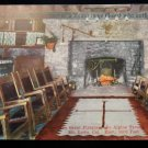 ANTIQUE ORIGINAL POSTCARD: YE ALPINE TAVERN, MT LOWE, CALIFORNIA GREAT FIREPLACE