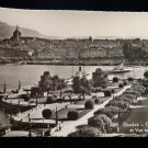 ANTIQUE ORIGINAL POSTCARD: GENEVA SWITZERLAND, RPPC, REAL PHOTO: MONT BLANC