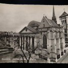 ANTIQUE ORIGINAL POSTCARD: GENEVA, SWITZERLAND, B&W, RPPC REAL PHOTO CATHEDRAL