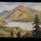 ANTIQUE ORIGINAL POSTCARD: LLANBERIS AND SNOWDON ART COLOR: VALENTINES CARD