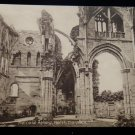ANTIQUE ORIGINAL POSTCARD: MELROSE ABBEY, NORTH TRANSEPT B&W CATHEDRAL