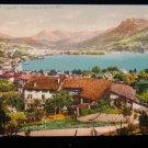 ANTIQUE ORIGINAL POSTCARD: LUGANO SWITZERLAND, ALPS; MONTE BRE COTTAGES