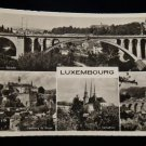ANTIQUE ORIGINAL POSTCARD: LUXEMBOURG, LA CATHEDRALE: FAUBOURG, ADOLPHE