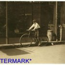 "*NEW* Antique Bicycle Photo:(8X10) ""Willie Roberts"" Reiss Department Store boy"