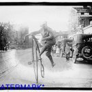 *NEW* Antique Bicycle Photo:(8X10) Large New York Times, High Bicycle, Wheel,Car