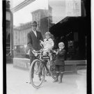 *NEW* Antique Bicycle Photo:(8X10) New York Times Bike, Bowl Hair Cuts, Standing