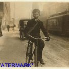*NEW* Antique Bicycle Photo:(8X10) Selling during school, Syracuse, NY Newsie